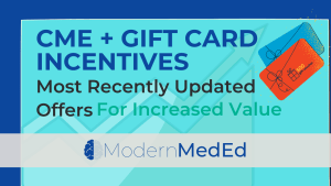 cme with gift card incentive title card
