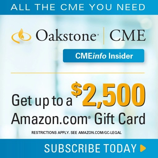 CMEinfo Insider CME with gift card incentive