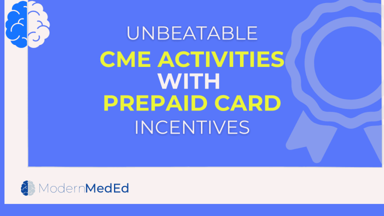 CME activities with prepaid card incentives