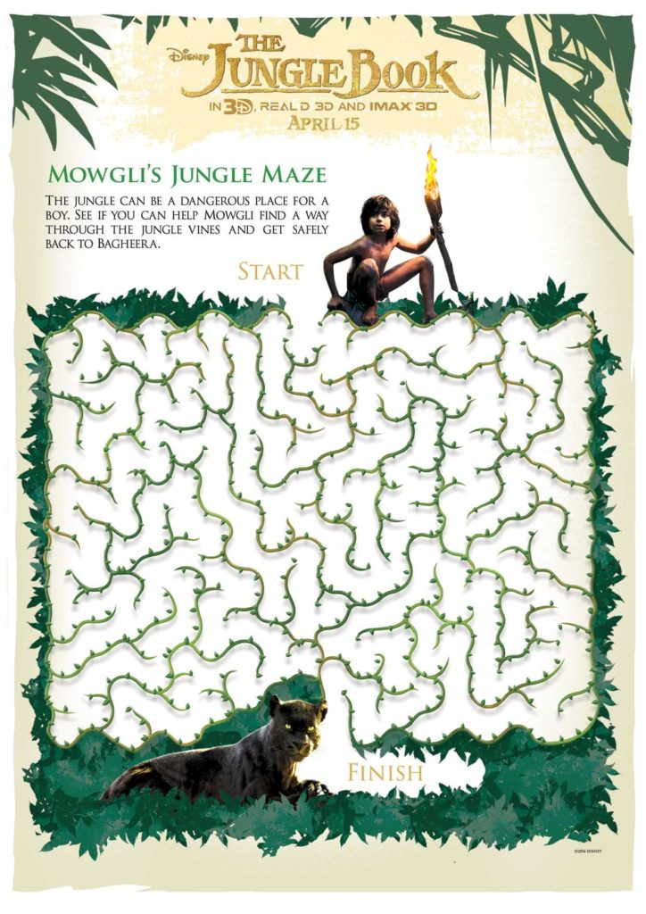 Free Disney Jungle Book Activity Pages For Kids Modern
