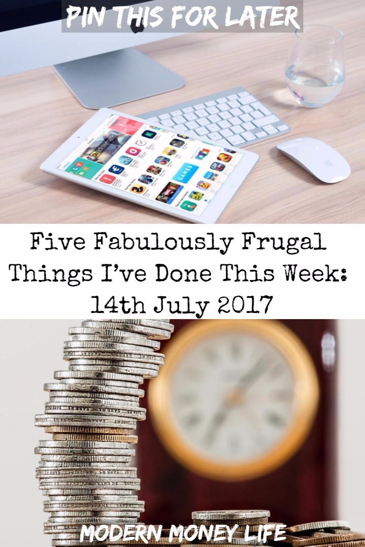 Five fabulously frugal things I've done this week is a round up of where I've saved (or made) money on everyday life things.