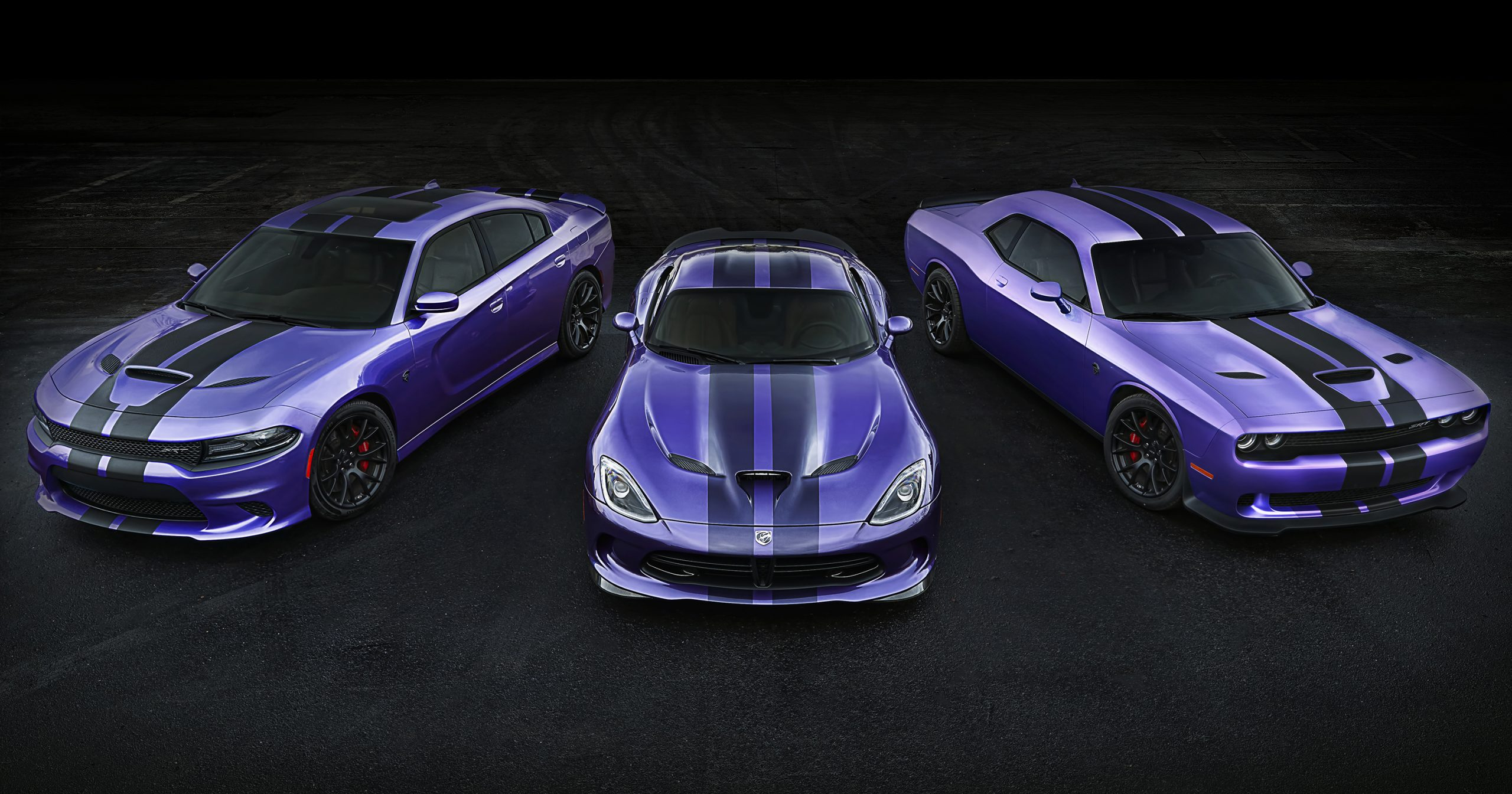 Plum Crazy Extended + Special Carbon Hellcat Stripe Option