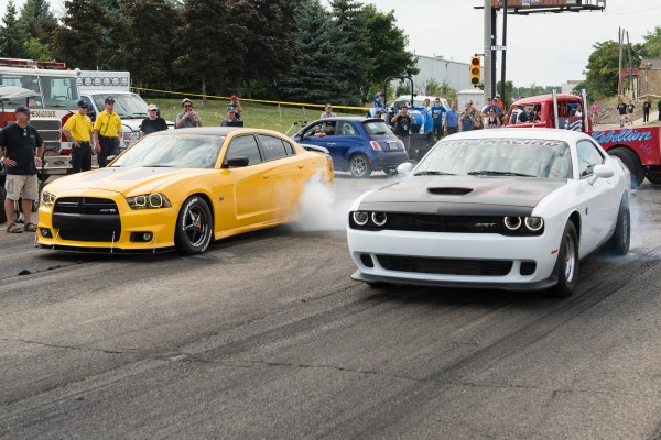 Dodge Hosts First-ever Legal Street Drag Racing on Woodward Avenue