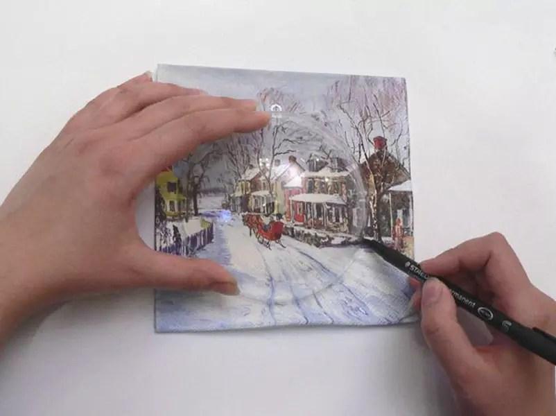 نقاشی را از دستمال کاغذی بریزید