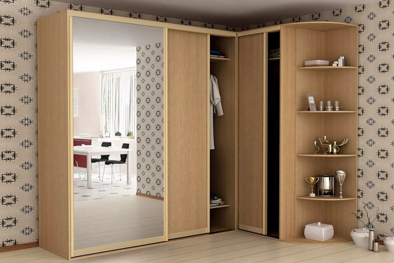 buy popular 97a04 2dc68 Corner wardrobe - features, types of models and selection rules.