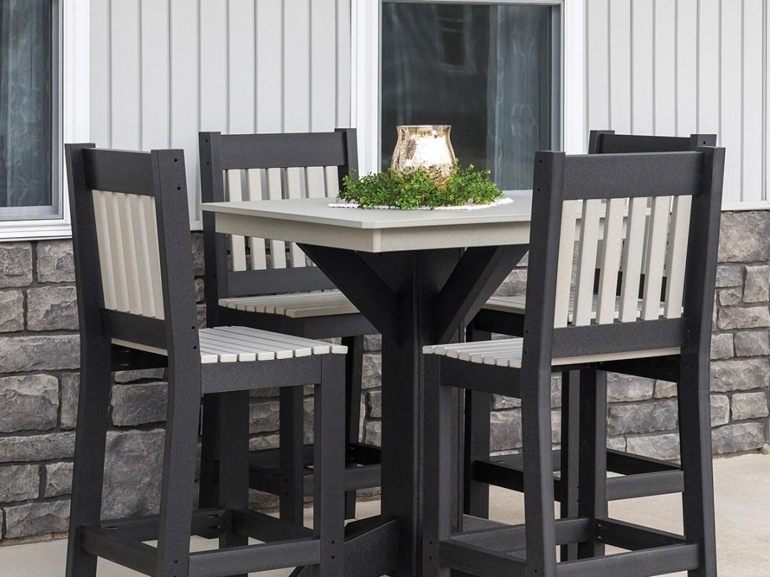 Modern mission style pub table set