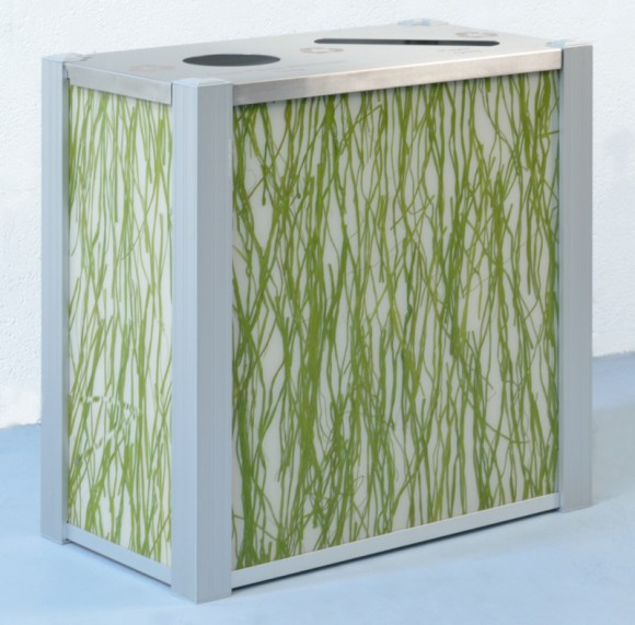 DeepStream's dual stream Recycling Bin using 3form Seaweed panels