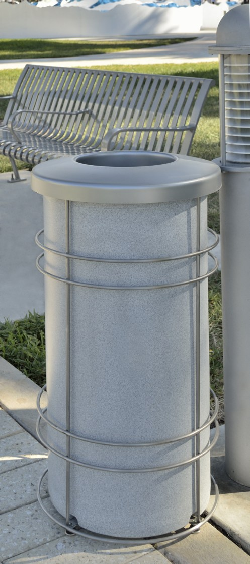 Nautique Stainless Steel Recycling Bin or Trash can