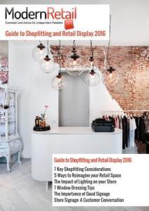 Retail Ebooks - Modern Retail Guide to Shopfitting and Retail Display 2016