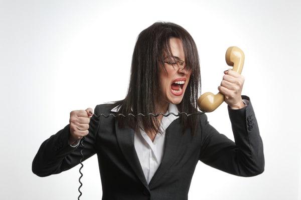 angry customer complaint