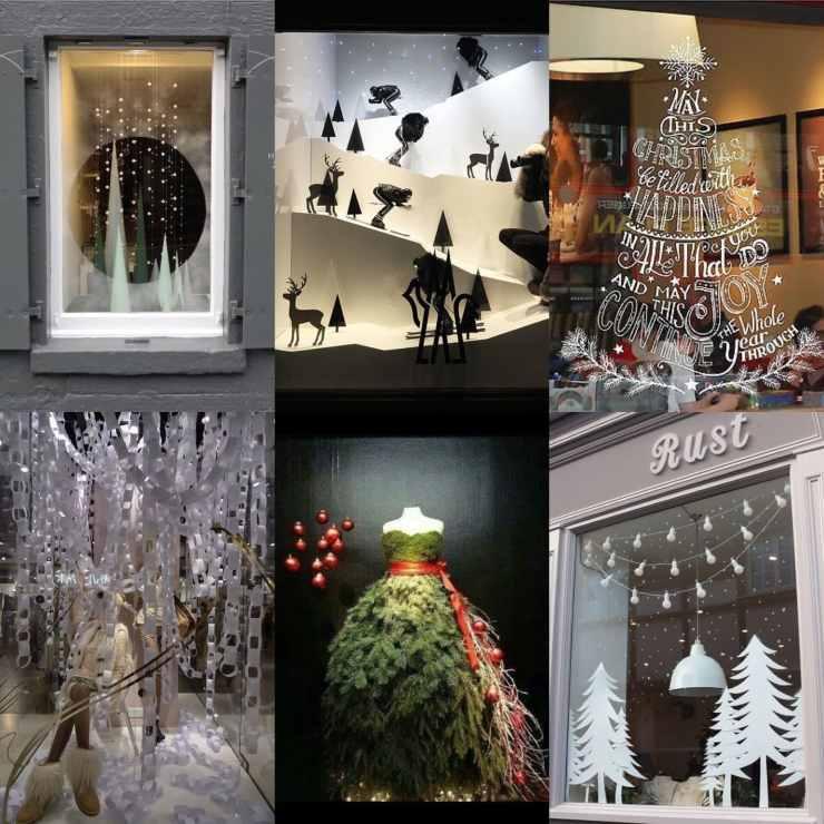 festive window displays
