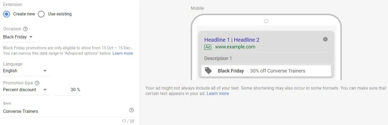 Google Ads: Prepare your Ad Extensions