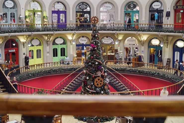 Leeds Corn Exchange at Christmas