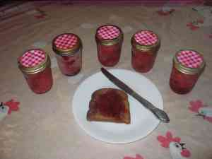 Homemade strawberry jam on toast