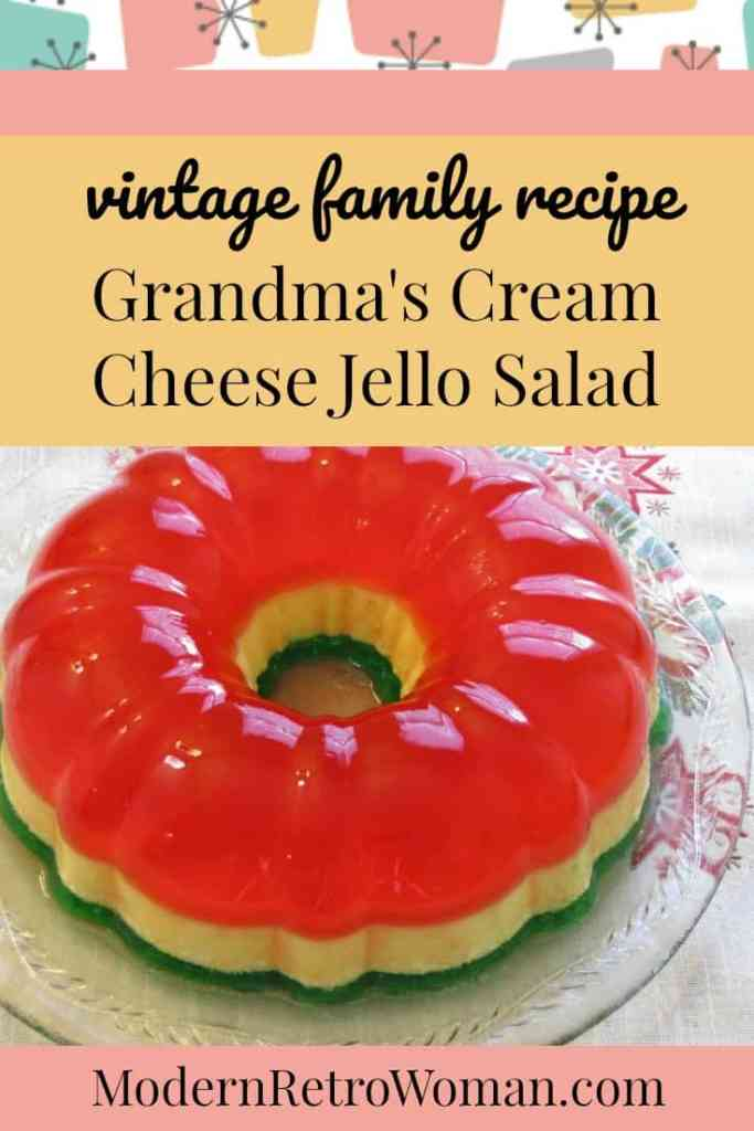 Grandma S Cream Cheese Jell O Salad Vintage Family Recipe