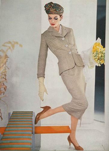 Vogue 1956; Photographed by Karen Radkai. Image courtesy of Dolvima is Divine II on Flickr.com