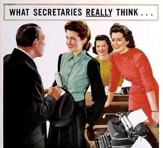 What Secretaries Really Think...about Beech-Nut Gum, Featured in Radio Mirror Magazine, April 1941; Image courtesy of The Bees Knees Daily on Flickr.com