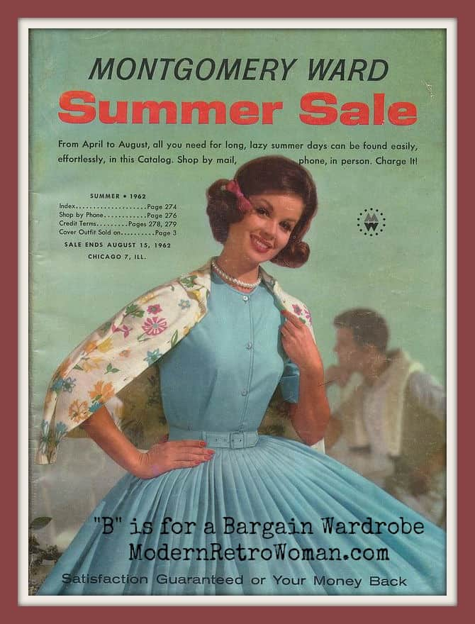 Montgomery Ward Summer Sale Catalogue, Summer 1962; Source image courtesy of PieShops on Flickr.com Sale Ends August 15, 1962