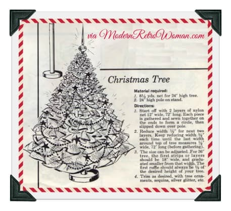 Instructions for tulle Christmas Tree project to make ModernRetroWoman.com
