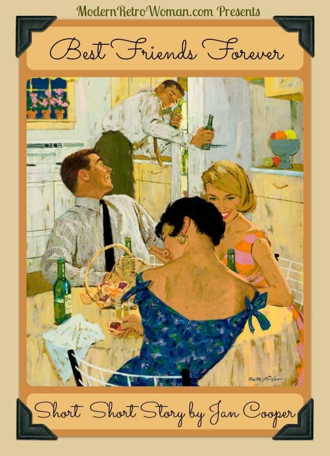 Best Friends Forever Short Story by Jan Cooper ModernRetroWoman.com Mike Ludlow illustration for Ballintine Beerr