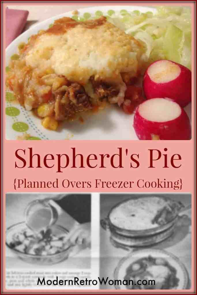 Shepherd's Pie Planned Overs Vintage Recipe ModernRetroWoman.com Pinterest