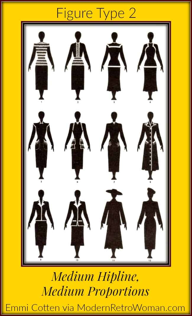 Clothes Make Magic Type-2-Figure-Illustrations for blog post From Frumpy to Fabulous ModernRetroWoman.com