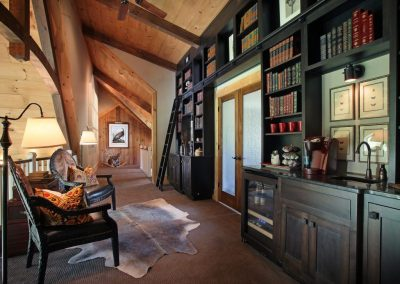 n Built-in bookshelves and personal touches