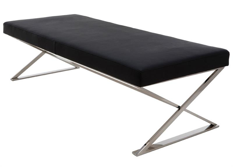 calais leather bench modern indoor