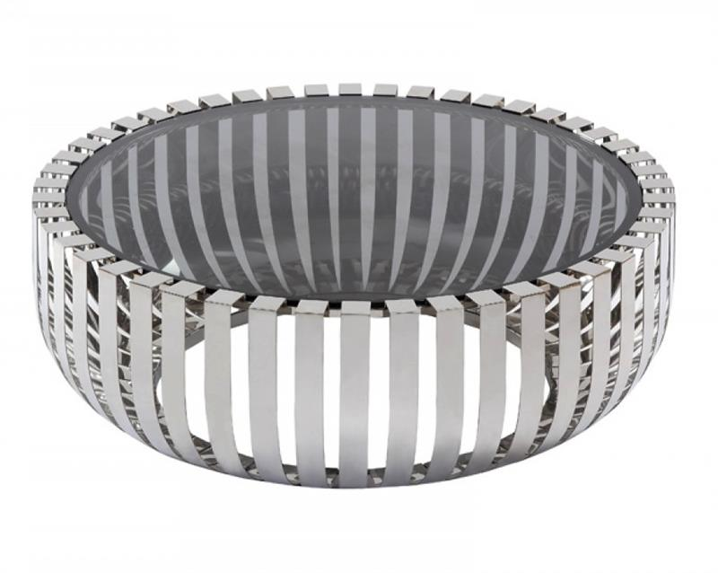 conch round coffee table stainless
