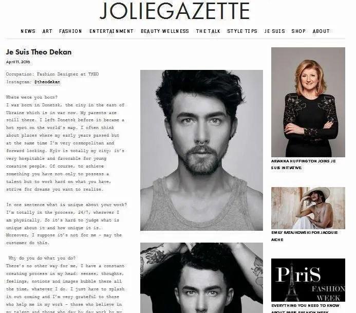 THEO in Jolie Gazette