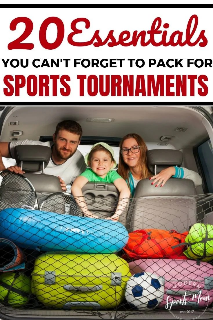 20 Essentials to Pack for Tournaments- Always be ready to hit the road for a travel or local sports tournament with this checklist of 20 essentials you just can't forget to pack. Whether it's baseball, softball, football, soccer, or something else, this list will help you remember all of the important items that are easily forgotten!