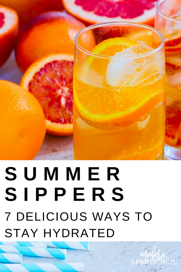 7 Summer Sippers- These healthier DIY alternatives to sugary drinks always keep my family hydrated and cool!