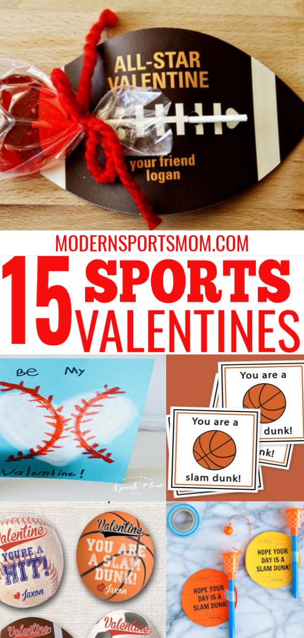 DIY Valentines Card ideas for sports loving kids!