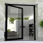 Steel Glass Front Door Frosted Or Clear Low E Glass
