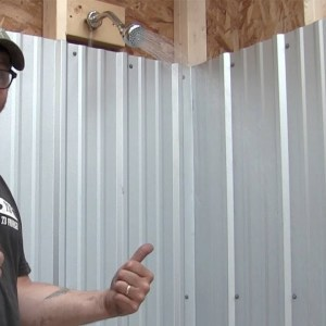 Off grid shower house Project