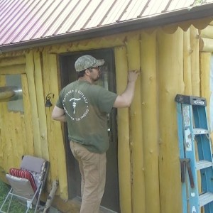 How to Chink an Off Grid Log Cabin