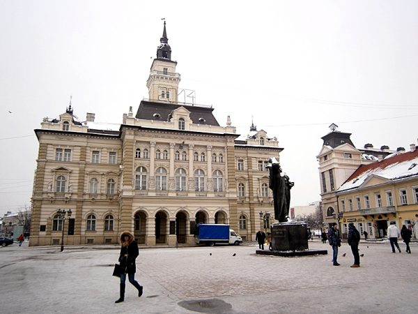 The main square in Novi Sad, Serbia