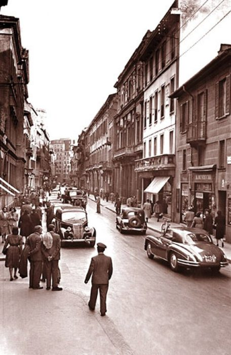 Europe's most expensive street back in the day