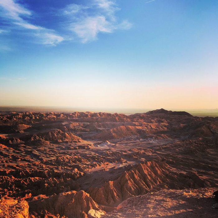 Watching the sunset at the Atacama Desert