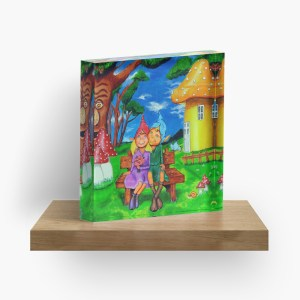 Elves in Magical Forest_ Acrylic Block by mikeylee (3)