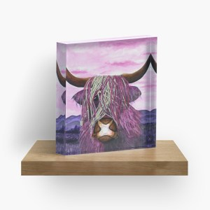 Highland Cow - The forgotten beauty_ Acrylic Block by marlenalee (3)