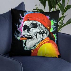 Skull - One last cigar - Cushion (20)