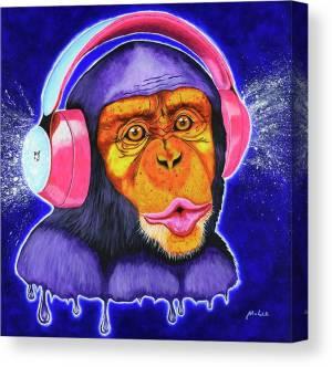 funky-monkey-mikey-lee-canvas-print