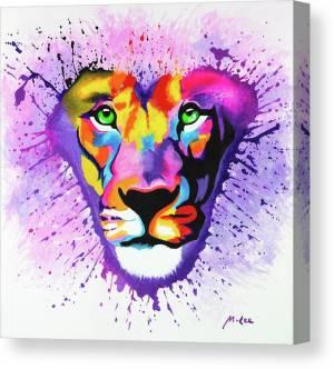 lion-heart-mikey-lee-canvas-print