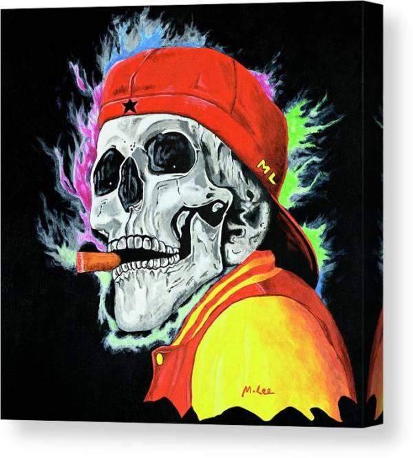 skull-one-last-cigar-mikey-lee-canvas-print