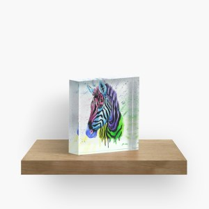 Living Colour Zebra_ Acrylic Block by mikeylee (3)