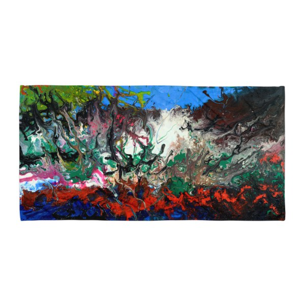 Burning-Sea-Towel-Modern-Wall-Art (2)
