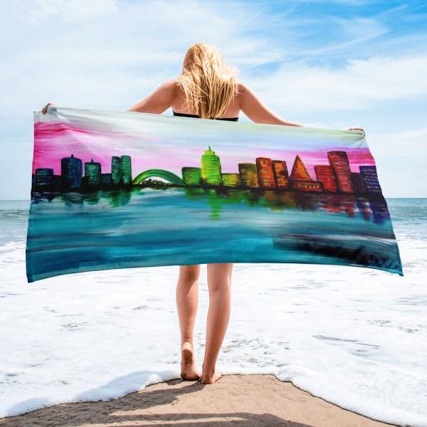 City-of-Dawn-Towel-Modern-Wall-Art (1)