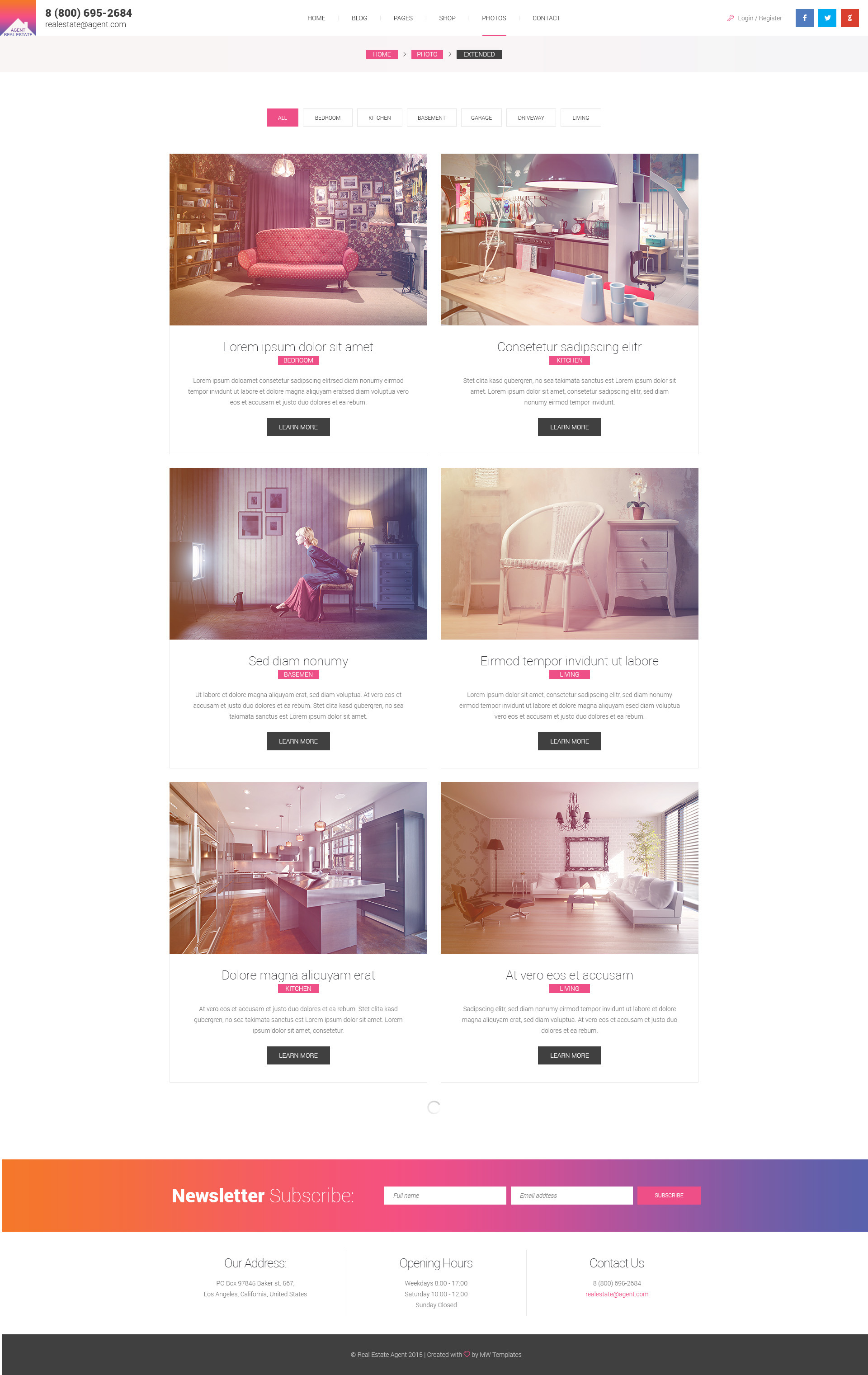real estate agent single property html template