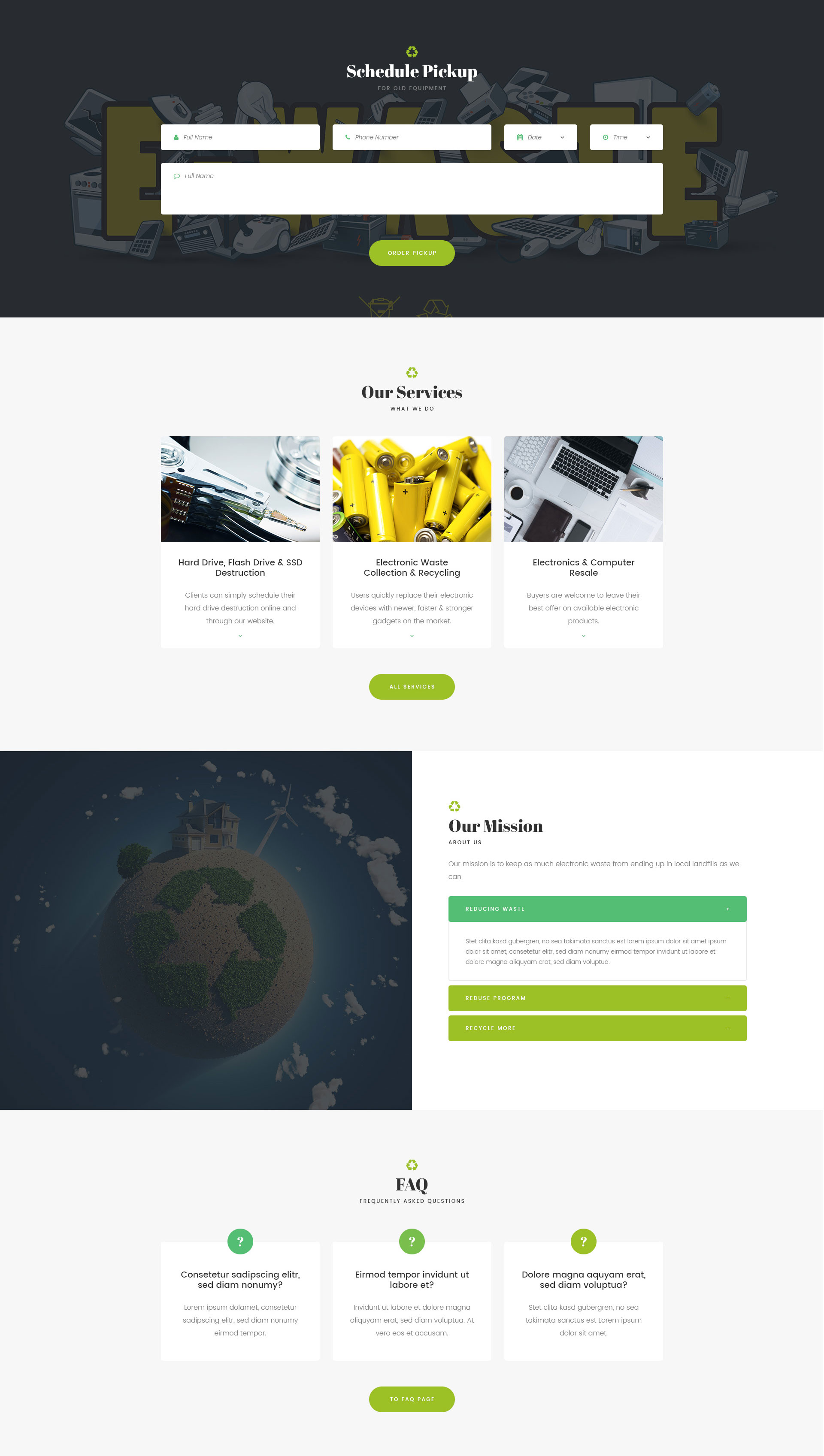 GoGreen Waste Management And Recycling HTML Template Modern Web Templates